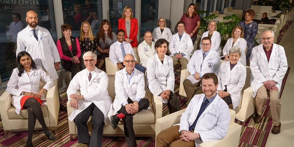 The Lung Cancer and Thoracic Oncology Program (TOP) team at the Upstate Cancer Center treats lung cancer, esophageal cancer, mesothelioma, mediastinal tumors, thymoma, malignant pleural effusion and cancers metastatic to the chest.