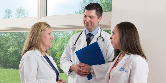 Physicians in consultation