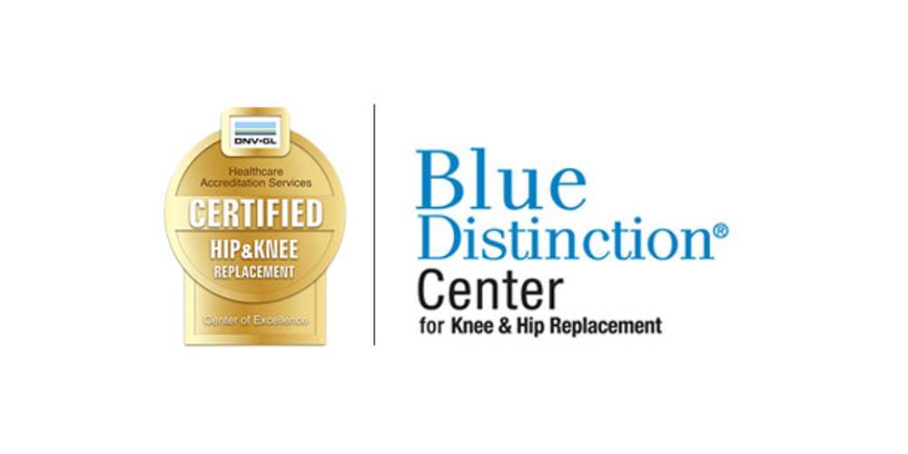 Ortho DNV and Blue Distinction Center logos
