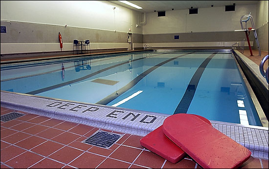 Twenty-five yard, 5 lane swimming pool