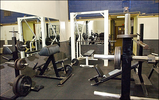 Free weight workout room