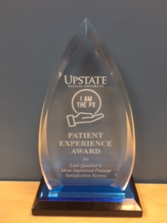 Hyperbarics received a Press Ganey Patient Experience Award