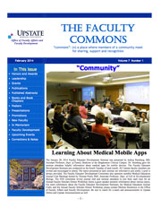 Faculty Commons Newsletter Cover