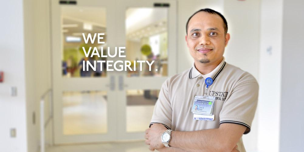 Upstate Values: We Value Integrity.