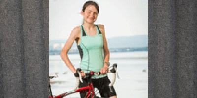 Fitness enthusiast tackles a triathlon