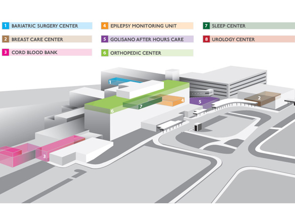 This high-tech illustration of the community campus was created by Marketing.