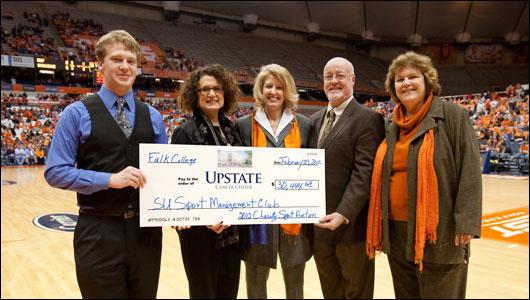 Syracuse University Sports Management Club donates to Upstate Cancer Center