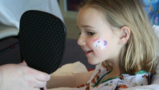 Face painting to celebrate Child Life Month