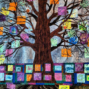 Quilt dedicated to children, their families and medical staff, now decorates children's hospital