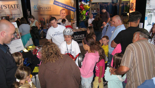 Upstate's State Fair exhibit features a free bike helmets, health screenings and a chat with a doc