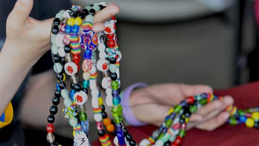 Cystic fibrosis patients collect Beads of Courage