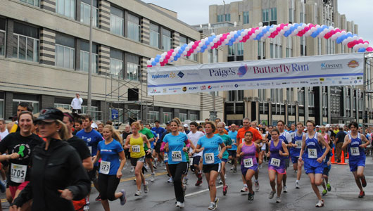 Going strong at 18, Paige's Butterfly Run benefits pediatric cancer research, care at Upstate Golisano