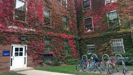 Weiskotten Hall is finally seeing some fall color