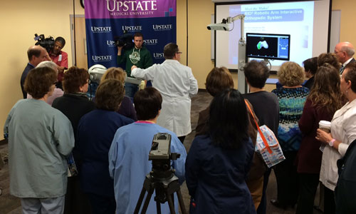 Upstate's Community Campus introduces area's first robotic arm technology for hip and knee procedures