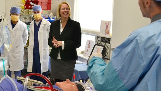 Mahoney visits College of Health Professions