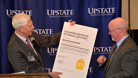 Upstate University Hospital earns Comprehensive Stroke Center designation by national healthcare accrediting agency