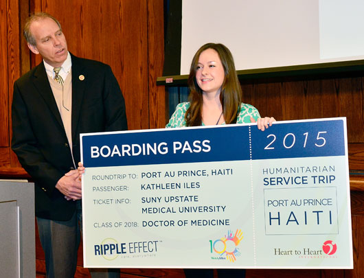 Medical student wins Welch Allyn's Ripple Effect Award; will travel to Haiti on humanitarian medical mission this summer