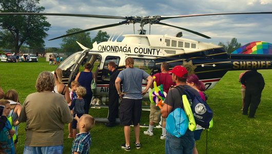 Onondaga County's Air One draws at crowd at the LEON Festival