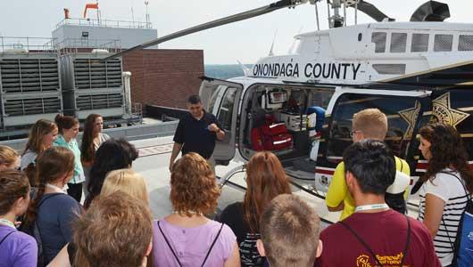 Area high school students attend Upstate's MedQuest camp to learn about health care careers