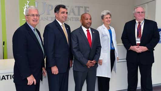 New York Assembly Speaker Carl Heastie visits Upstate Medical University