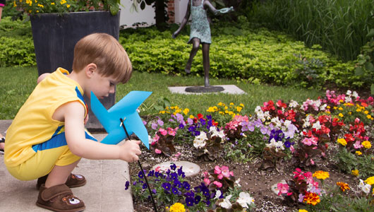Upstate Golisano Children's Hospital garden starts to bloom in its first year