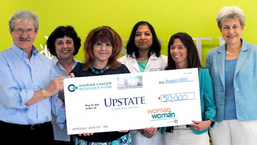 Upstate Cancer Center receives $50K grant from Ovarian Cancer Research Fund to launch support program for patients with gynecologic cancers