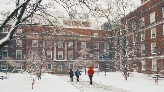 Snow at Weiskotten Hall