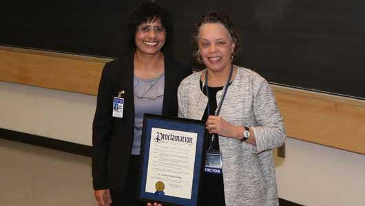 Onondaga County Health Commissioner and President Danielle Laraque-Arena, MD
