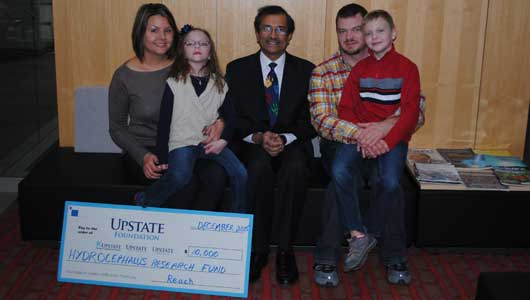 Hydrocephalus research at Upstate receives $10,000 in support from grateful patient family
