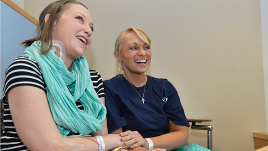 Transplant ladies meet for first time