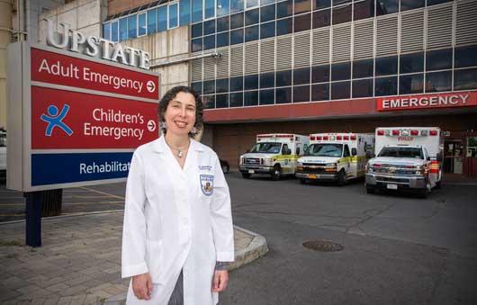 Kim Wallenstein, MD, PhD, is Upstate's new pediatric trauma medical director