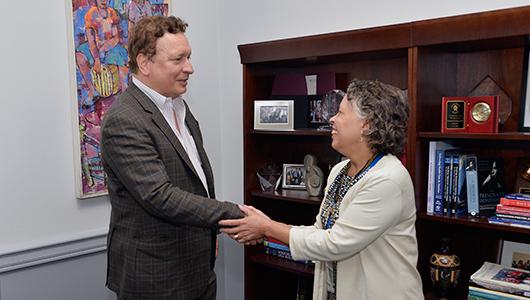 President Laraque-Arena welcomes Julio Licinio, MD, PhD