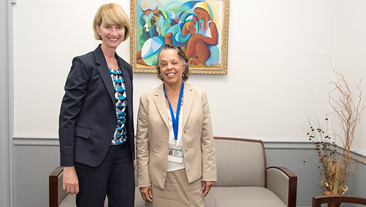Chancellor-elect Kristina Johnson, MS, PhD, visit SUNY Upstate