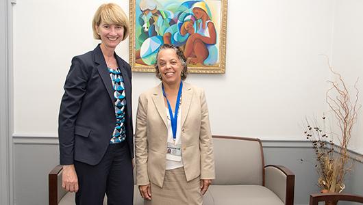 Chancellor-elect Kristina Johnson, MS, PhD, visit SUNY Upstate