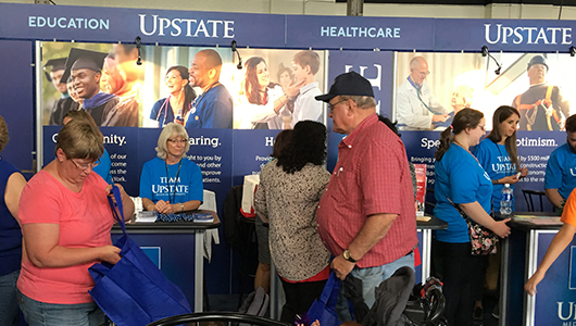 Upstate showcases services, expertise, offers health screenings at New York State Fair, be...