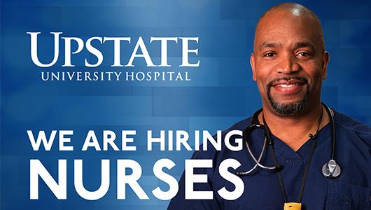 Upstate hosts hiring event for registered nurses Sept. 18
