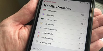 Apple iPhone contains medical records
