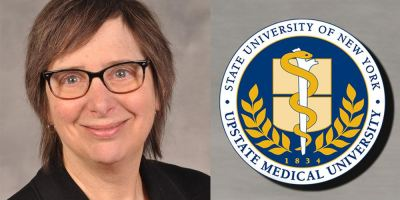 Ruth Weinstock, MD, PhD, picks up key award from American College of Physicians