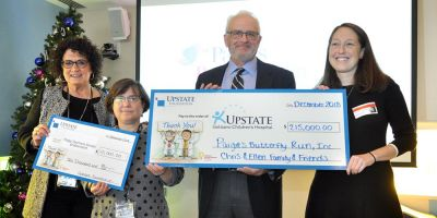 Paige's Butterfly Run presents $215,000 donation for pediatric cancer care, research at Upstate