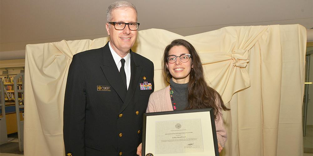 RADM Michael Toedt, MD, Assistant Surgeon General, US Public Health Service with Sydney Russell Leed