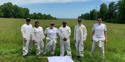 Upstate research team collects ticks at Green Lakes State Park