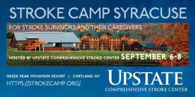 Upstate University Hospital sponsors first Stroke Camp Sept. 6, 7 and 8