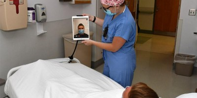 More than 200 iPads installed around campus make virtual visitations possible