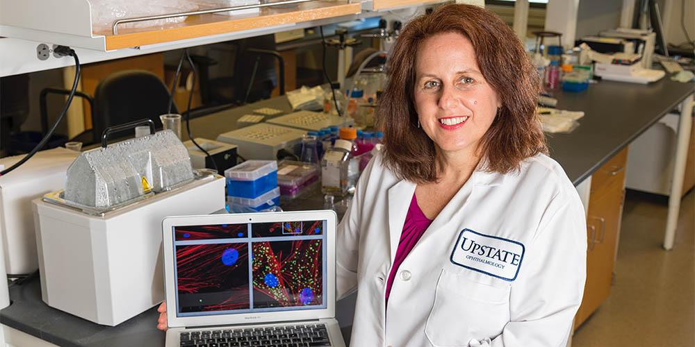 One of the grants expands Dr. Audrey Bernstein's ongoing NIH-funded work, which is focused on developing a therapeutic target for scarring in the eye in conjunction with biotech collaborators.