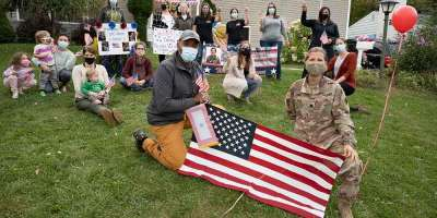 Deployed overseas for the past 10 months, Upstate nurse Lt. Col. Dana Lonis gets a hero's welcome home