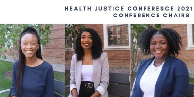 Trio of students find success in more than 850 participants in Health Justice Confrence