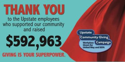 Upstate raises $592,963 for Community Giving Campaign