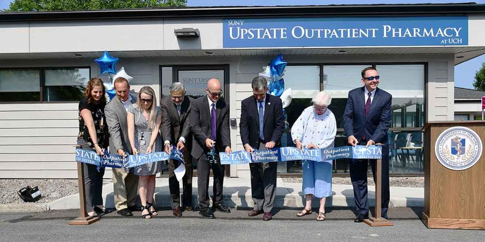 The new pharmacy celebrated with a ribbon-cutting on July 15.