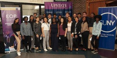 After meeting with inaugural class of 23 students in Pre-Medical Opportunity Program at Upstate Medical, SUNY chancellor announces he will double investment in program