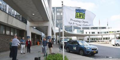 Upstate honors organ donors with regular flag raisings outside hospital